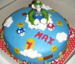 super mario bros taart met luigi